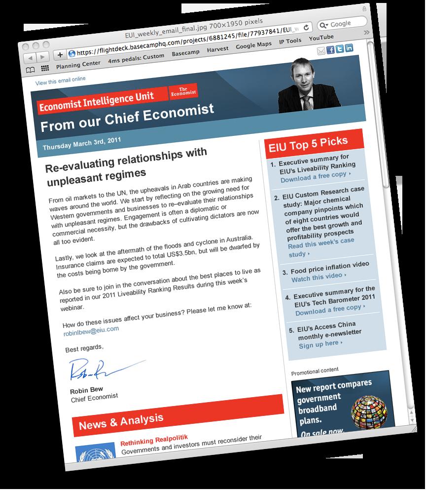 Economist Intelligence Unit eDM