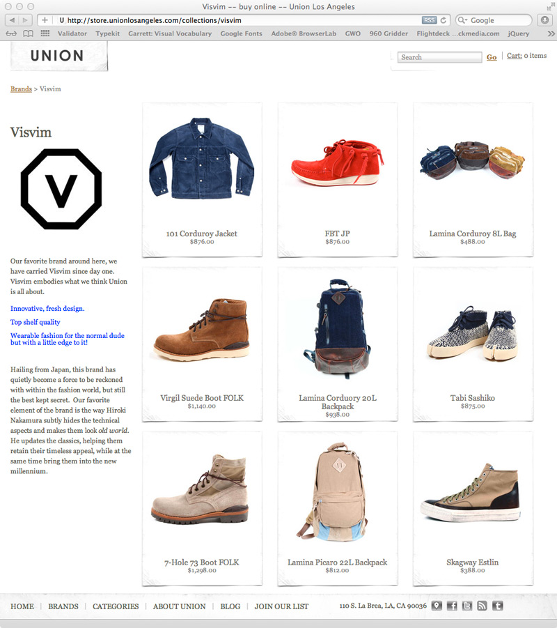 Union Los Angeles Website Screenshot