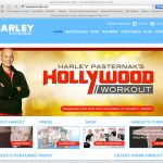 Screenshot of harleypasternak.com homepage
